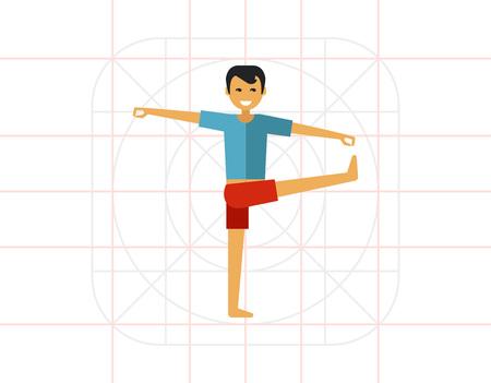Hombre haciendo yoga 1 Vectores