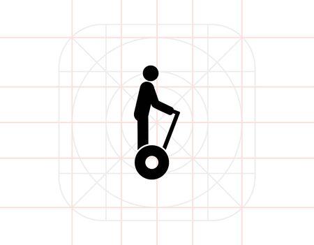 segway: Man Riding Segway Icon