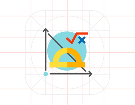 math icon: Math Formula and Graph Icon