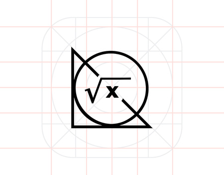 math icon: Math Formula, Circle and Triangle Icon