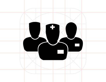 Istituto medico di tre medici Icon