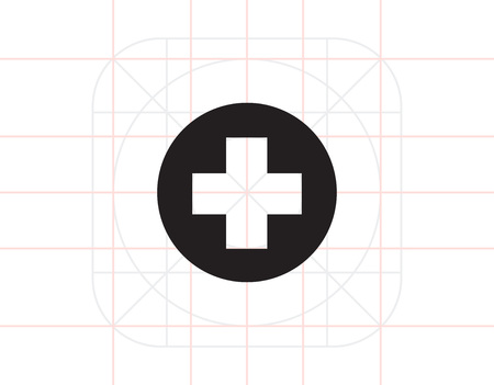 recue: Medical cross Illustration