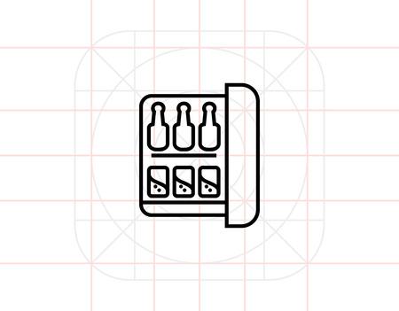 minibar: Minibar icon Illustration
