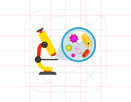 bacteria microscope: Microscope and Picture of Bacteria Icon