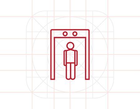 metal: Metal detector Illustration