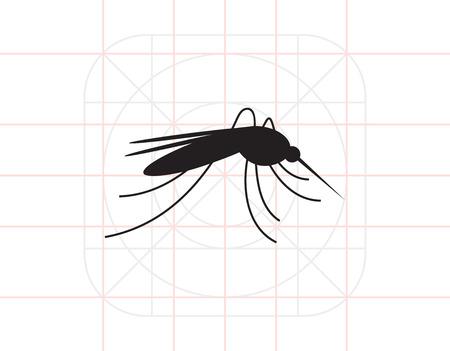 repellent: Mosquito icon Illustration