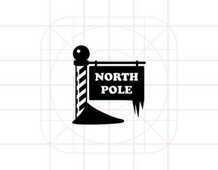 chill: North Pole simple icon Illustration