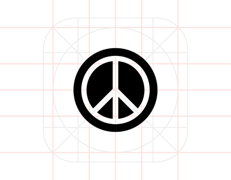 nonviolent: Peace simple icon Illustration
