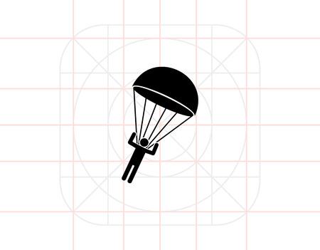 airborne: Parachutist Landing Icon