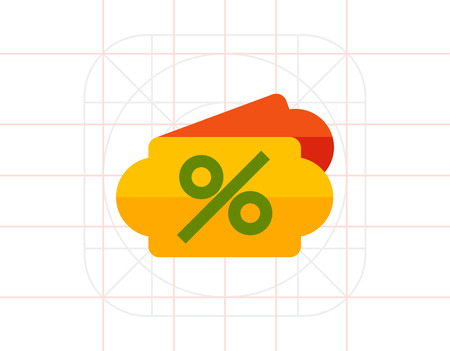 Percent sign icon Illustration