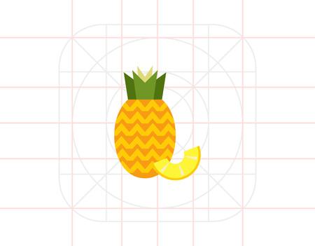 pineapple slice: Pineapple with pineapple slice