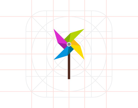 Pinwheel Vector Icon