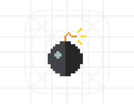 detonating: Pixel Bomb Icon