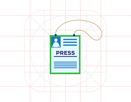 allowing: Press card icon Illustration