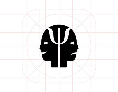 behaviorism: Psychology simple icon Illustration