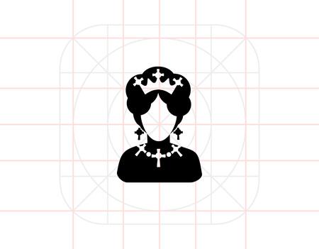 Queen  Icon Illustration