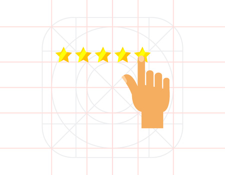 approval rate: Rating and Five Stars Icon