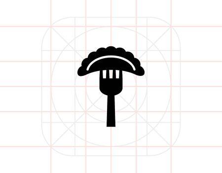 Ravioli on fork icon