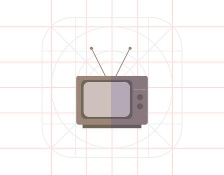 retro tv: Retro TV set