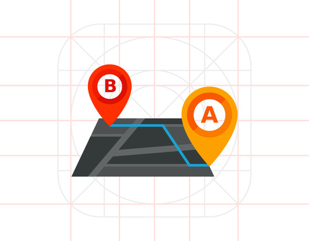 Route and Map Pointers Vector Icon