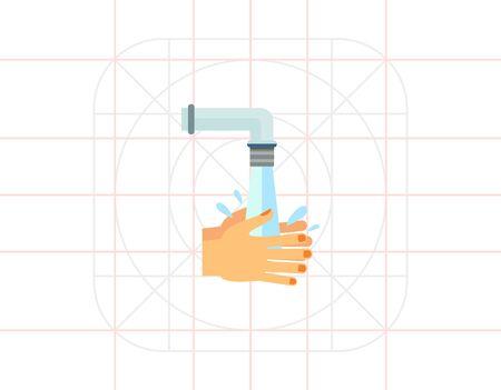 rinsing: Rinsing Hands Icon