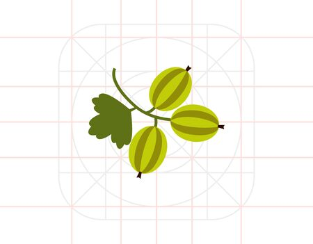 gooseberry: Ripe gooseberry icon Illustration