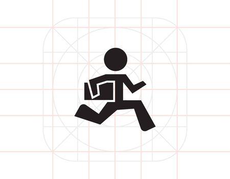 running businessman: Running businessman Illustration
