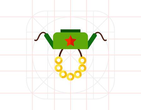 Russia Symbols Icon Illustration