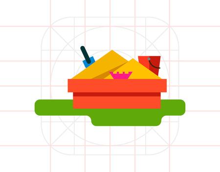 sandbox: Sandbox Flat Icon