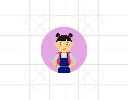 pinafore: Schoolgirl portrait