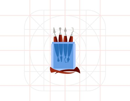 carver: Sculpting Tools Vector Icon Illustration