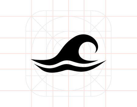 Sea Wave Icon Illustration