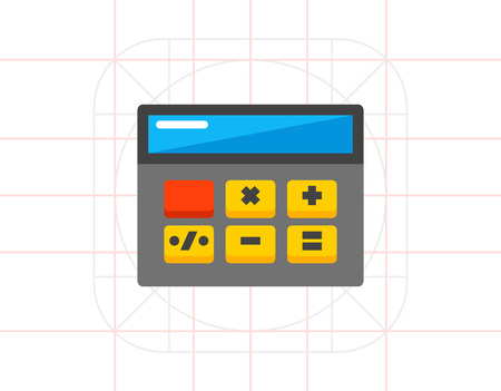 Simple Calculator Icon Illustration