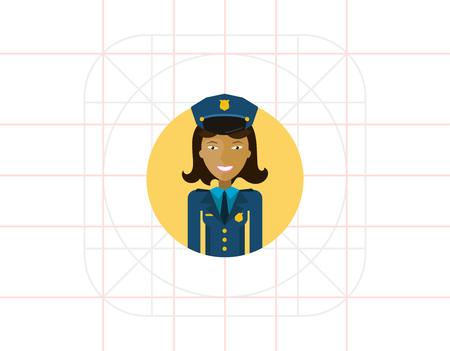 policewoman: Smiling policewoman