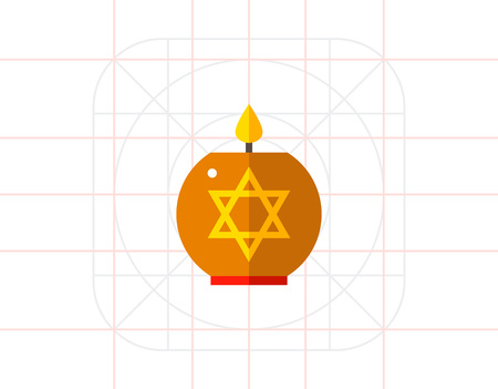 genocide: Star of David Candle Icon Illustration