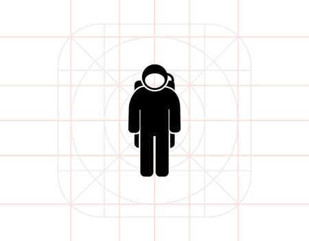 spacesuit: Spaceman Wearing Spacesuit Icon