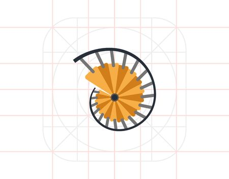 ladder  fence: Spiral Staircase Vector Icon