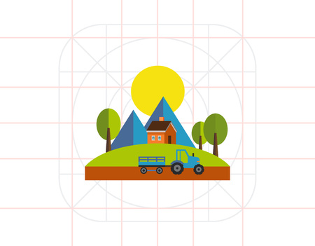 Summer Time Icon Illustration
