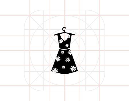 pinafore: Summer Woman Dress Icon Illustration