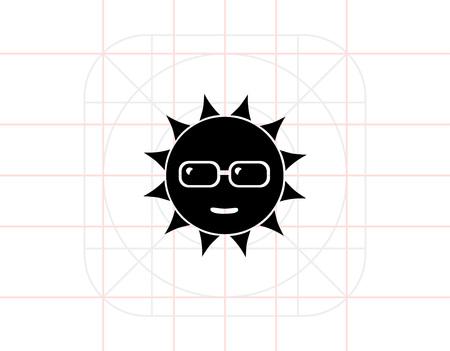 Sun in Sunglasses Icon