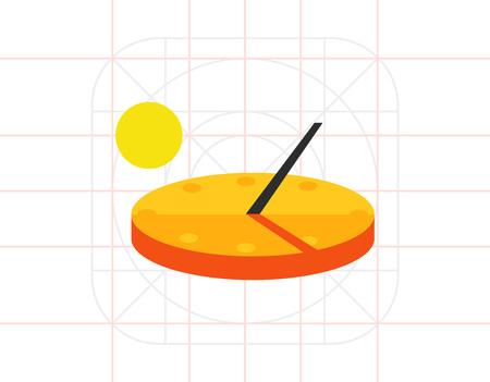 Zonnewijzer Vector Pictogram