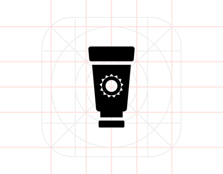suntan cream: Suntan cream tube Illustration