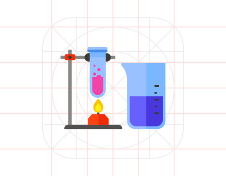 bubbling: Test Tubes as Chemistry Concept Icon