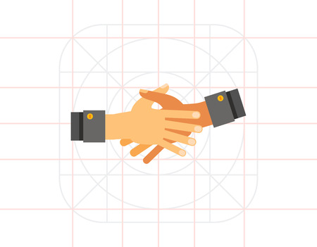 reach out: Together Hands Flat Icon Illustration