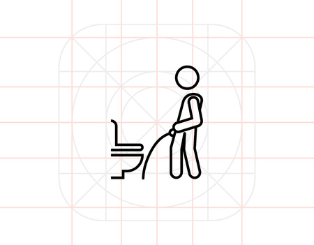 indecent: Toilet hygiene Illustration
