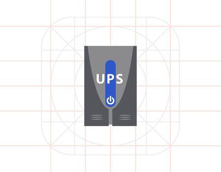 Uninterruptible power supply icon.
