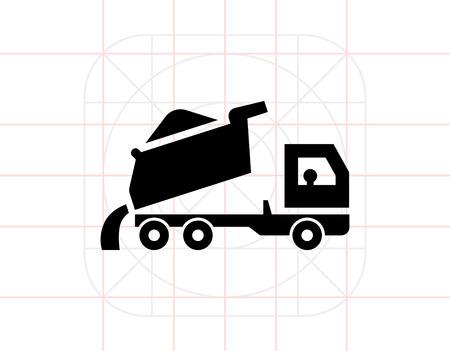 dump body: Unloading dump truck