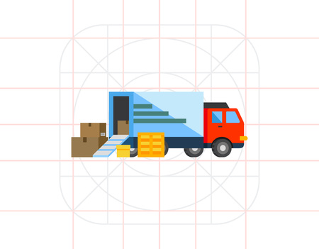 unloading: Unloading or Loading Truck Icon