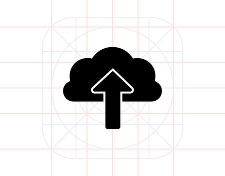 uploading: Upload to Cloud storage Illustration
