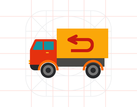 Vector Truck Icon Illustration